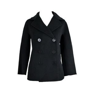 TALBOTS Double-Breasted Wool Pea Coat